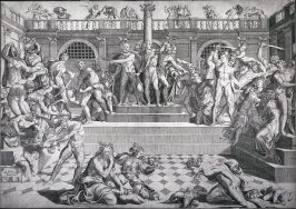 The Massacre of the Innocents, by an unknown engraver after Marco Dente da Ravenna's engraving of a design by Baccio Bandinelli