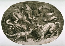 Three Animals in an Oval