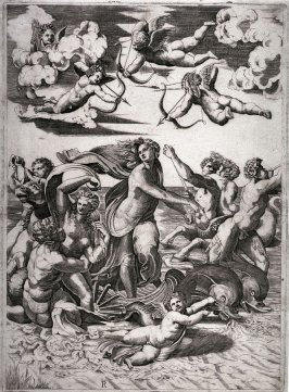 The Triumph of Galatea, after the Engraving by Marcantonio Raimondi after the fresco by Raphael in the Villa Farnesina, Rome