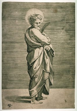 St. Bartholomew, after the engraving by Marcantonio Raimondi