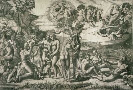 The Judgment of Paris, after the engraving by Marcantonio Raimondi