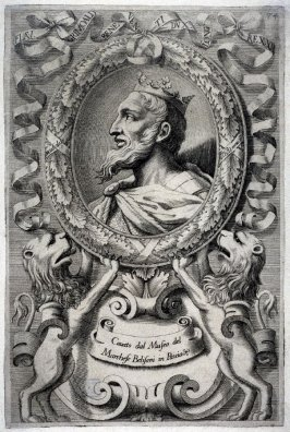 Flav.Grimoald, Duke and King, from a series of Portraits of Rulers from the Museum of the Marchese Belisoni