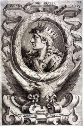 Fl. Astulphus. King of Lombardi, from a series of Portraits of Rulers from the Museum of the Marchese Belisoni