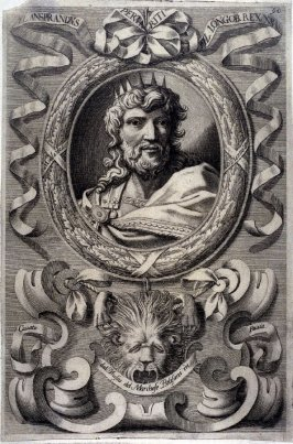 FL. Ansprandus, King of Lombardy, from a series of Portraits of Rulers from the Museum of the Marchese Belisoni