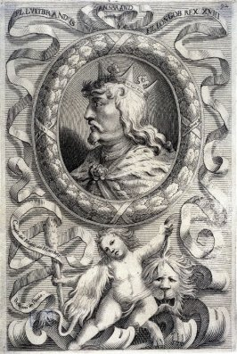 FL. Luibrandus, King of Lombardy, from a series of Portraits of Rulers from the Museum of the Marchese Belisoni