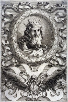 Alboinus Audoni Pannoniae, king of Lombardy, from a series of Portraits of Rulers from the Museum of the Marchese Belisoni