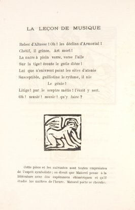 Untitled, illustration 10, in the book Les Œuvres burlesque et mystique de frère matorel, mort au couvent by Max Jacob (Paris: Henry Kahnweiler, 1912)