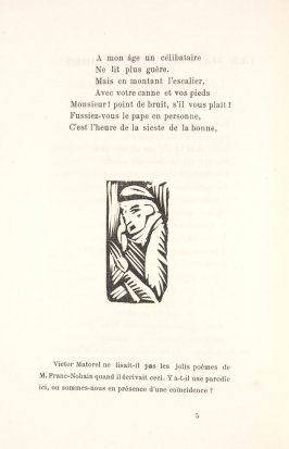 Untitled, illustration 14, in the book Les Œuvres burlesque et mystique de frère matorel, mort au couvent by Max Jacob (Paris: Henry Kahnweiler, 1912)