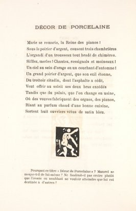 Untitled, illustration 18, in the book Les Œuvres burlesque et mystique de frère matorel, mort au couvent by Max Jacob (Paris: Henry Kahnweiler, 1912)