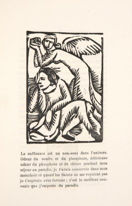 Untitled, illustration 21, in the book Les Œuvres burlesque et mystique de frère matorel, mort au couvent by Max Jacob (Paris: Henry Kahnweiler, 1912)