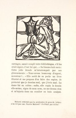 Untitled, illustration 25, in the book Les Œuvres burlesque et mystique de frère matorel, mort au couvent by Max Jacob (Paris: Henry Kahnweiler, 1912)