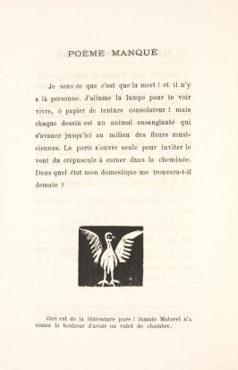 Untitled, illustration 28, in the book Les Œuvres burlesque et mystique de frère matorel, mort au couvent by Max Jacob (Paris: Henry Kahnweiler, 1912)