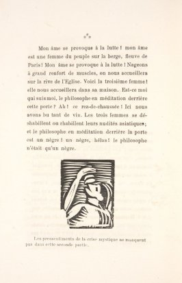 Untitled, illustration 35, in the book Les Œuvres burlesque et mystique de frère matorel, mort au couvent by Max Jacob (Paris: Henry Kahnweiler, 1912)