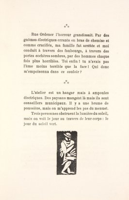 Untitled, illustration 47, in the book Les Œuvres burlesque et mystique de frère matorel, mort au couvent by Max Jacob (Paris: Henry Kahnweiler, 1912)