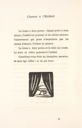 Untitled, illustration 53, in the book Les Œuvres burlesque et mystique de frère matorel, mort au couvent by Max Jacob (Paris: Henry Kahnweiler, 1912)