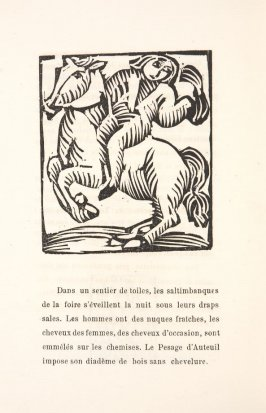 Untitled, illustration 57, in the book Les Œuvres burlesque et mystique de frère matorel, mort au couvent by Max Jacob (Paris: Henry Kahnweiler, 1912)