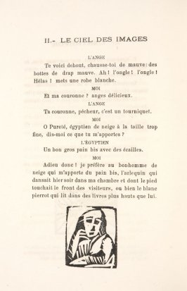 Untitled, illustration 60, in the book Les Œuvres burlesque et mystique de frère matorel, mort au couvent by Max Jacob (Paris: Henry Kahnweiler, 1912)