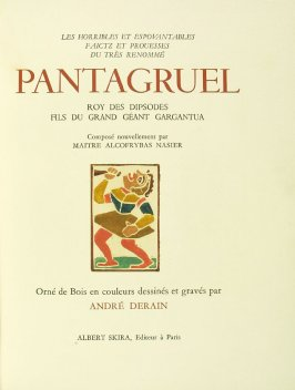 Untitled, on title page, in the book Pantagruel by François Rabelais (Paris: Albert Skira, 1943).