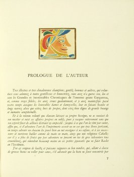 Untitled, pg. 7, in the book Pantagruel by François Rabelais (Paris: Albert Skira, 1943).