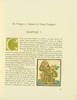 Untitled, Chapter I, pg. 11, in the book Pantagruel by François Rabelais (Paris: Albert Skira, 1943).