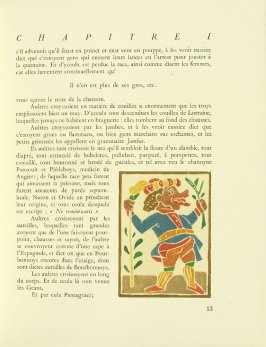 Untitled, pg. 13, in the book Pantagruel by François Rabelais (Paris: Albert Skira, 1943).