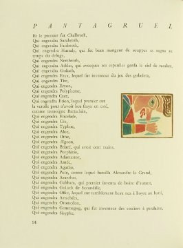 Untitled, pg. 14, in the book Pantagruel by François Rabelais (Paris: Albert Skira, 1943).