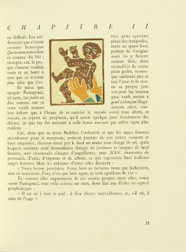Untitled, pg. 21, in the book Pantagruel by François Rabelais (Paris: Albert Skira, 1943).