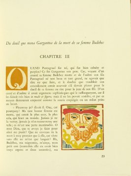 Untitled, Chapter III, pg. 23, in the book Pantagruel by François Rabelais (Paris: Albert Skira, 1943).