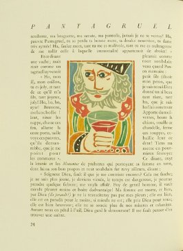 Untitled, pg. 24, in the book Pantagruel by François Rabelais (Paris: Albert Skira, 1943).