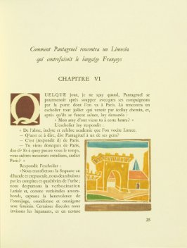 Untitled, Chapter VI, pg. 35, in the book Pantagruel by François Rabelais (Paris: Albert Skira, 1943).