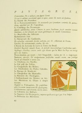 Untitled, pg. 42, in the book Pantagruel by François Rabelais (Paris: Albert Skira, 1943).