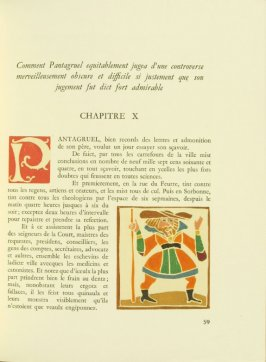 Untitled, Chapter X, pg. 59, in the book Pantagruel by François Rabelais (Paris: Albert Skira, 1943).