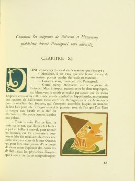 Untitled, Chapter XI, pg. 65, in the book Pantagruel by François Rabelais (Paris: Albert Skira, 1943).