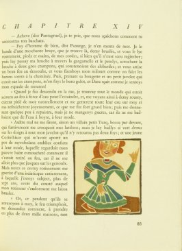 Untitled, pg. 85, in the book Pantagruel by François Rabelais (Paris: Albert Skira, 1943).