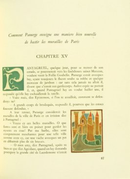 Untitled, Chapter XV, pg. 87, in the book Pantagruel by François Rabelais (Paris: Albert Skira, 1943).