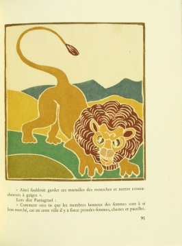Untitled, pg. 91, in the book Pantagruel by François Rabelais (Paris: Albert Skira, 1943).