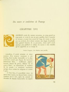 Untitled, Chapter XVI, pg. 93, in the book Pantagruel by François Rabelais (Paris: Albert Skira, 1943).