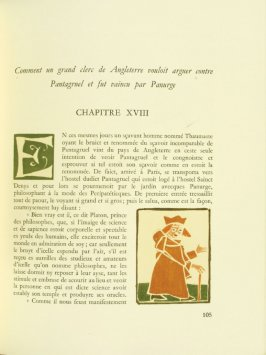 Untitled, Chapter XVIII, pg. 105, in the book Pantagruel by François Rabelais (Paris: Albert Skira, 1943).