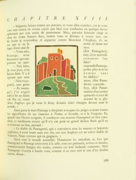 Untitled, pg. 109, in the book Pantagruel by François Rabelais (Paris: Albert Skira, 1943).