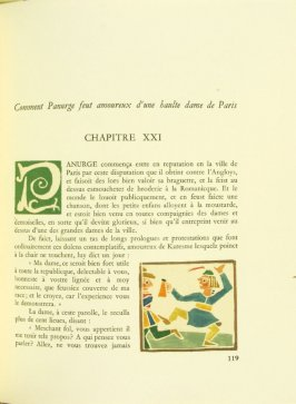 Untitled, Chapter XXI, pg. 119, in the book Pantagruel by François Rabelais (Paris: Albert Skira, 1943).