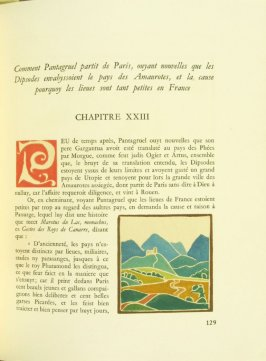 Untitled, pg. 129, in the book Pantagruel by François Rabelais (Paris: Albert Skira, 1943).