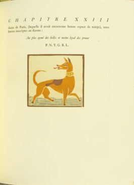 Untitled, pg. 131, in the book Pantagruel by François Rabelais (Paris: Albert Skira, 1943).
