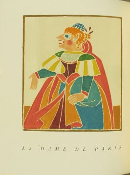 """La Dame de Paris,"" pg. 132, in the book Pantagruel by François Rabelais (Paris: Albert Skira, 1943)."