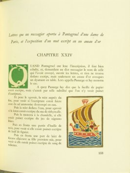 Untitled, Chapter XXIV, pg. 133, in the book Pantagruel by François Rabelais (Paris: Albert Skira, 1943).
