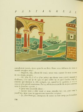 Untitled, pg. 136, in the book Pantagruel by François Rabelais (Paris: Albert Skira, 1943).