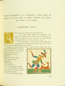 Untitled, Chapter XXVI, pg. 143, in the book Pantagruel by François Rabelais (Paris: Albert Skira, 1943).