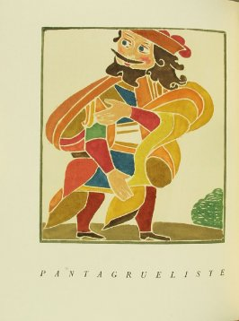 """Pantagrueliste,"" pg. 176, in the book Pantagruel by François Rabelais (Paris: Albert Skira, 1943)."