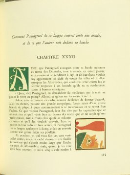Untitled, Chapter XXXII, pg. 177, in the book Pantagruel by François Rabelais (Paris: Albert Skira, 1943).