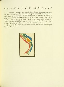 Untitled, pg. 185, in the book Pantagruel by François Rabelais (Paris: Albert Skira, 1943).