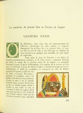 Untitled, pg. 187, in the book Pantagruel by François Rabelais (Paris: Albert Skira, 1943).